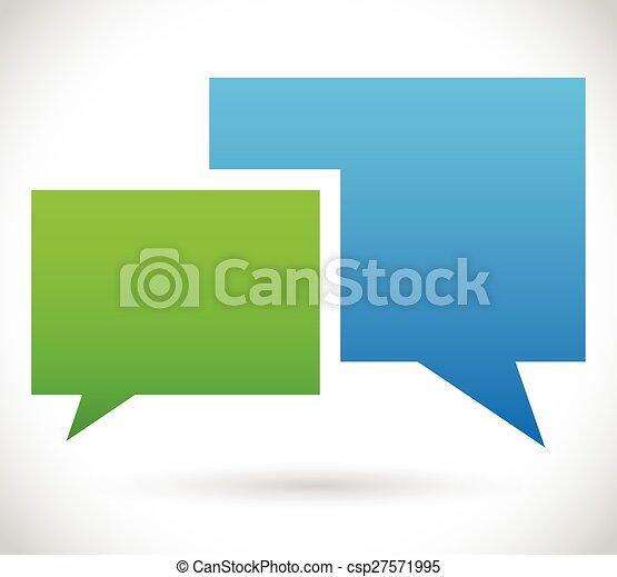 ベクトル, 議論, chatting., コミュニケーション, 2, 泡, 重なり合う, スピーチ, 話 - csp27571995