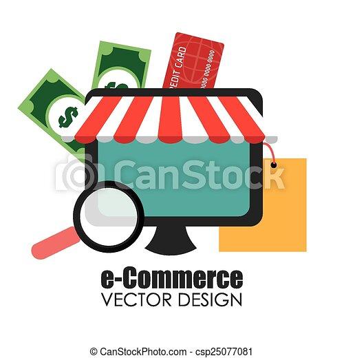 ベクトル, 買い物, デザイン, illustration. - csp25077081