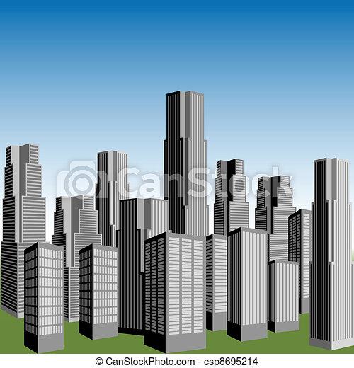 ベクトル, 超高層ビル - csp8695214