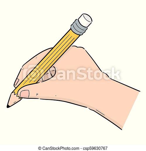 ベクトル, 鉛筆, セット, 手の執筆 - csp59630767