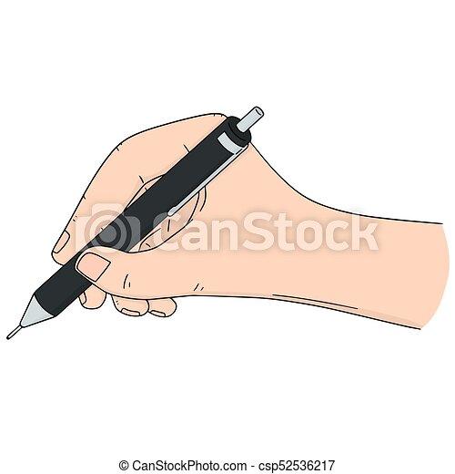 ベクトル, 鉛筆, セット, 手の執筆 - csp52536217