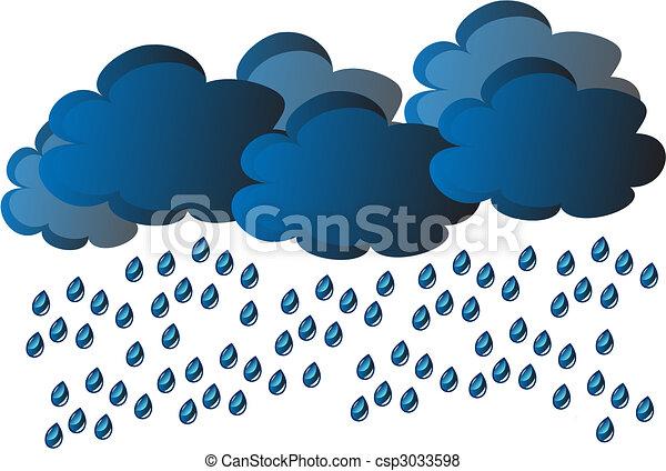 ベクトル, 雨 - csp3033598