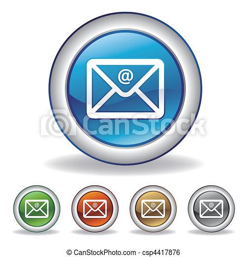 ベクトル, 電子メール, アイコン - csp4417876