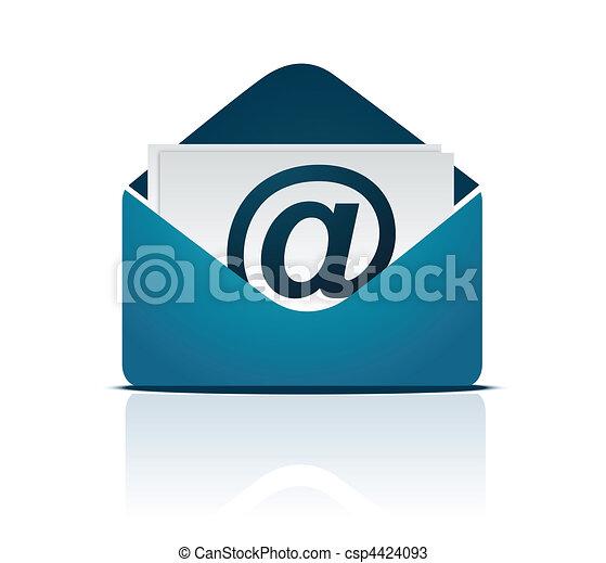 ベクトル, 電子メール, /, 印 - csp4424093