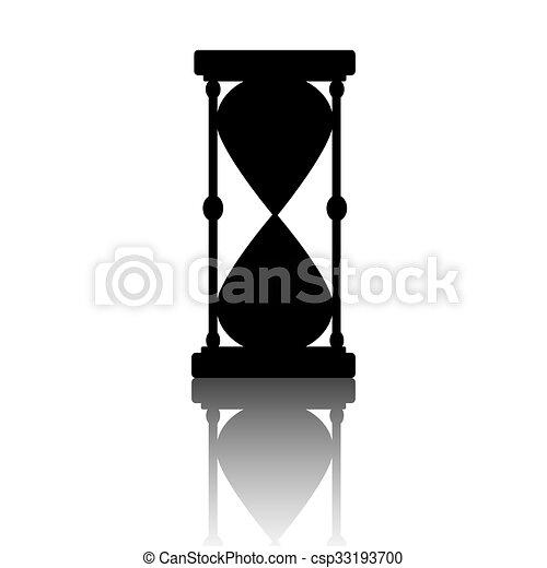 ベクトル, 黒, hourglass., silhouette. - csp33193700