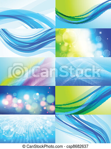 ベクトル, 10, 抽象的, セット, 背景 - csp8682637