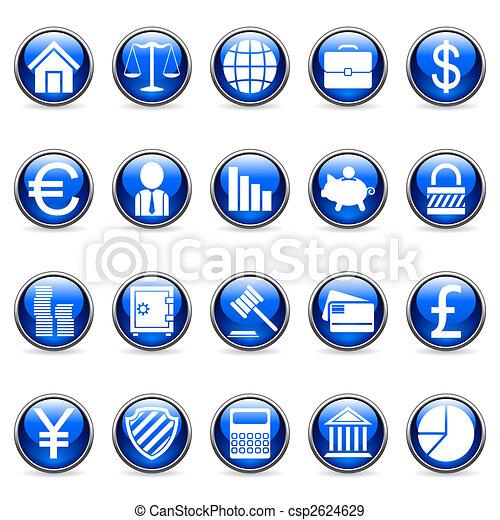 ベクトル, buttons., 金融, ビジネス - csp2624629