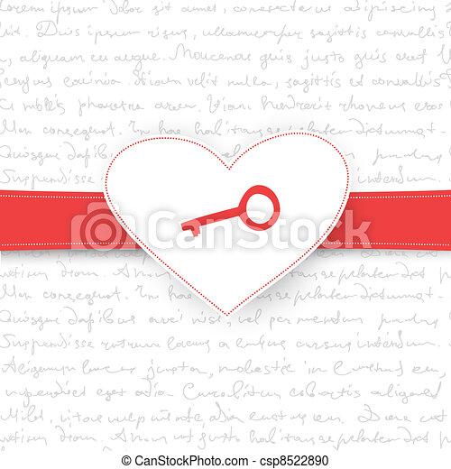 ベクトル, eps10, card., 贈り物, バレンタイン, 背景, 日 - csp8522890