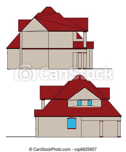 ベクトル, house. - csp6625607