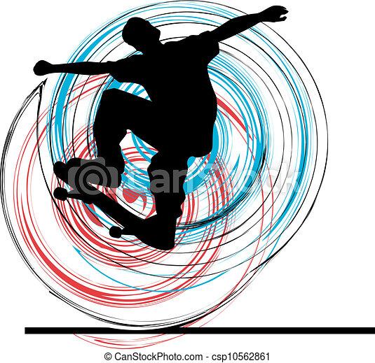 ベクトル, illustration., スケーター - csp10562861