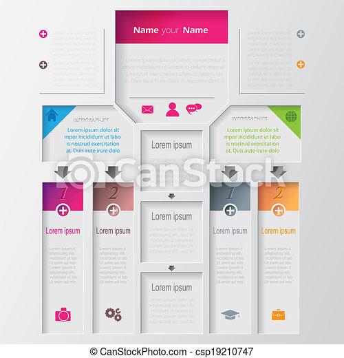 ベクトル, infographic, デザイン, multilevel, テンプレート - csp19210747