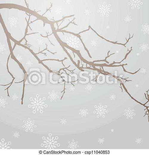 ベクトル, winterly, ブランチ - csp11040853