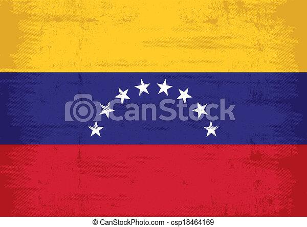 ベネズエラの旗, グランジ - csp18464169