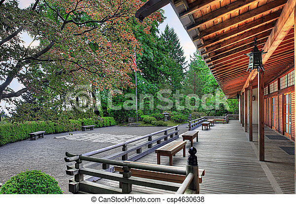 ベランダ, パビリオン, 庭の日本人 - csp4630638