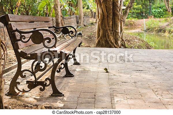ベンチ, 公園 - csp28137000