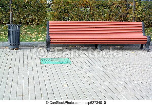 ベンチ, 公園 - csp62734010