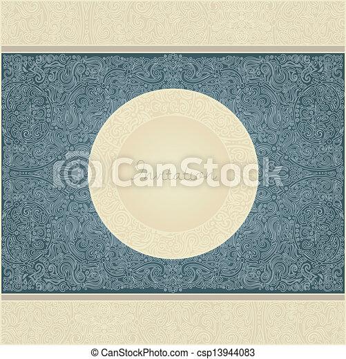 ペイズリー織, カード, 招待 - csp13944083