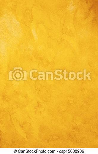 ペイントされた, 金黄色, 背景, 手ざわり - csp15608906