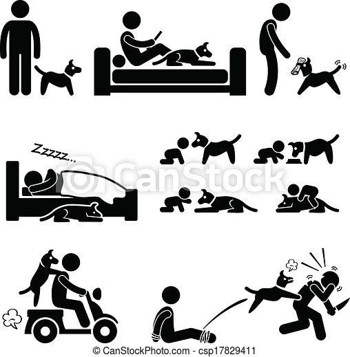ペット, 犬, 関係, 人 - csp17829411