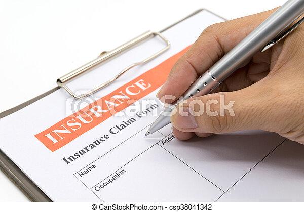ペン, 人, 手を持つ - csp38041342