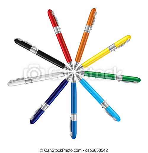 ペン, 有色人種 - csp6658542