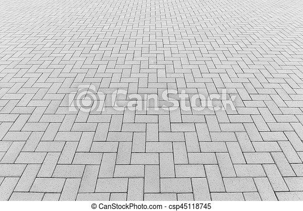 ペーバー, ブロック, 背景, 床 - csp45118745