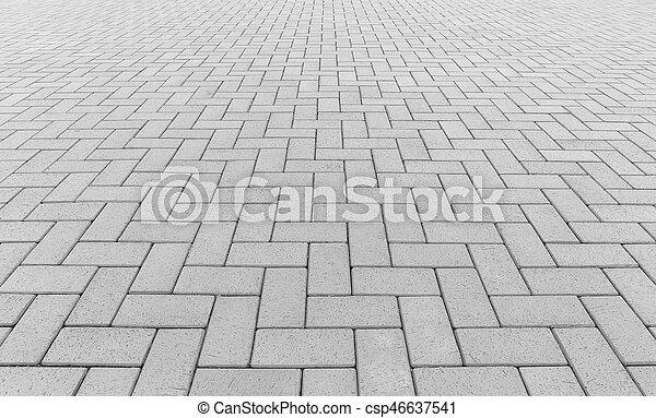 ペーバー, ブロック, 背景, 床 - csp46637541