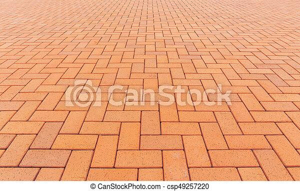 ペーバー, ブロック, 背景, 床 - csp49257220