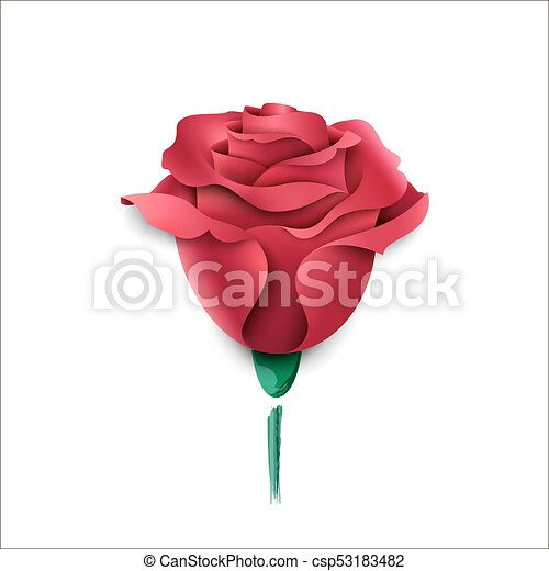 ペーパー, バラ, カード, ピンク, 挨拶, 白, バックグラウンド。 - csp53183482