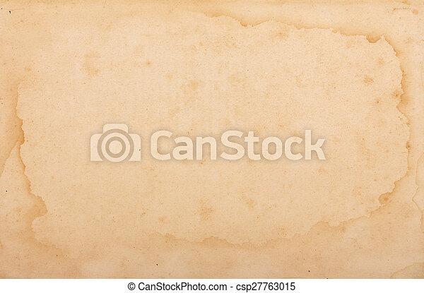 ペーパー, 手ざわり, yellowed - csp27763015