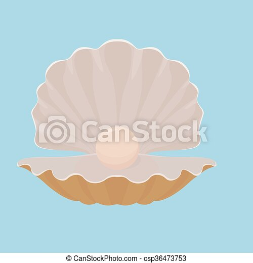 ホタテ貝 貝殻 イラスト 真珠 青 ホタテ貝 貝殻 隔離された 真珠