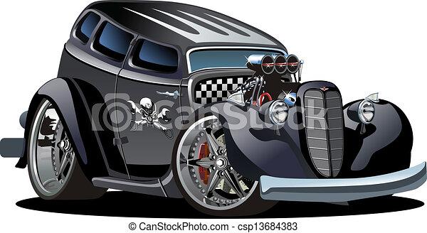 ホットロッド, 漫画, レトロ - csp13684383