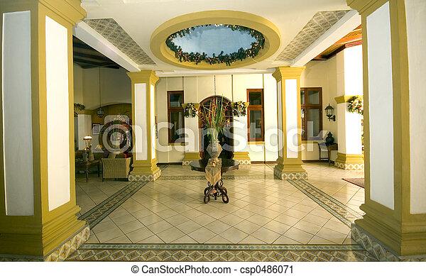 ホテルのロビー, クラシック - csp0486071