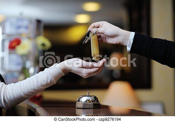 ホテルの受信 - csp9276194