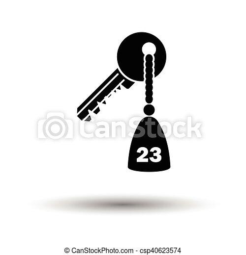 ホテルの部屋のキー, アイコン - csp40623574