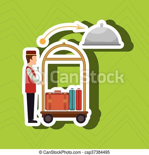 ホテル, デザイン, サービス - csp37384495