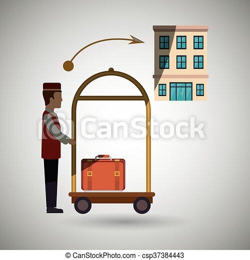 ホテル, デザイン, サービス - csp37384443