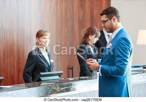 ホテル, 今日, ゲスト, 歓迎 - csp26175839