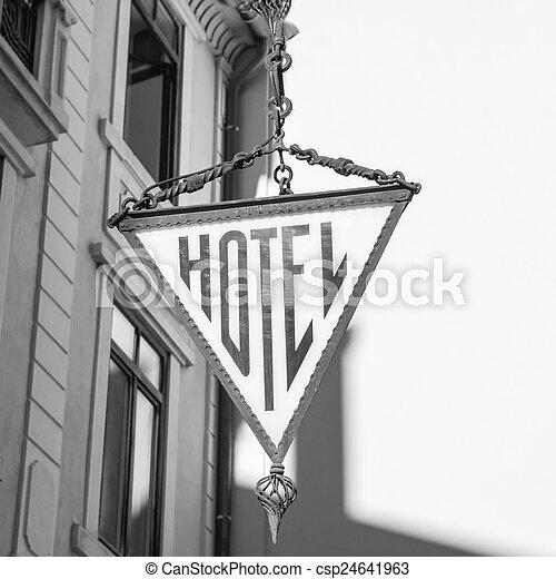 ホテル, 印 - csp24641963
