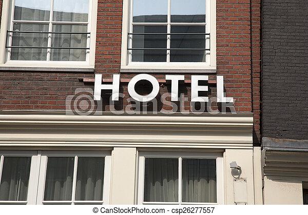 ホテル, 印 - csp26277557