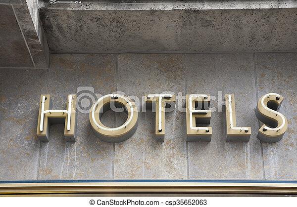 ホテル, 印 - csp35652063