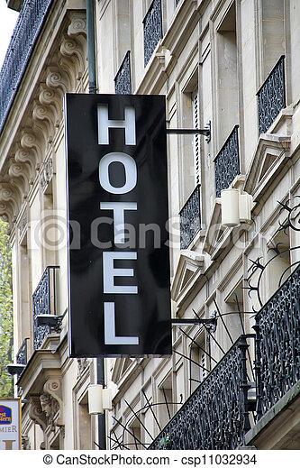 ホテル, 印 - csp11032934