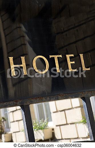 ホテル, 印 - csp36004632