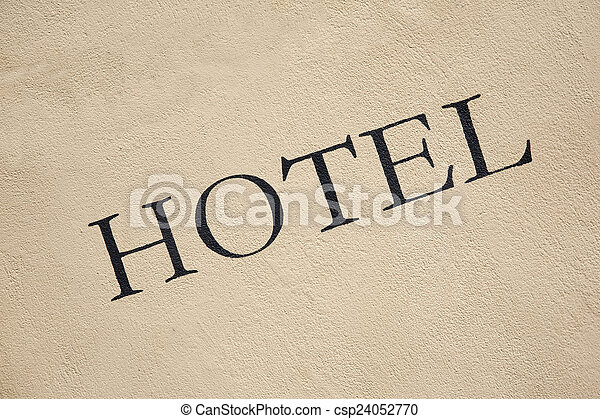 ホテル, 印 - csp24052770