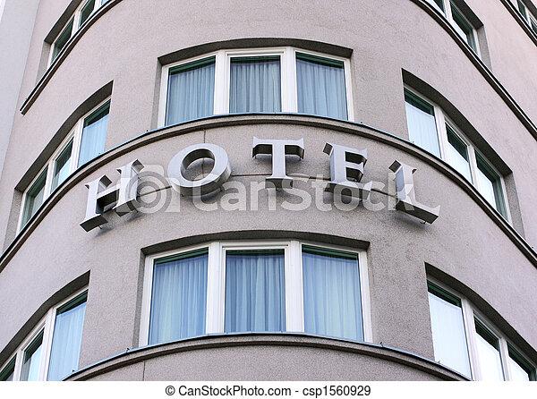 ホテル, 印, 外の光景 - csp1560929