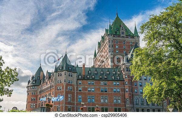 ホテル, 威厳, de, frontenac, ケベック, canada. - csp29905406