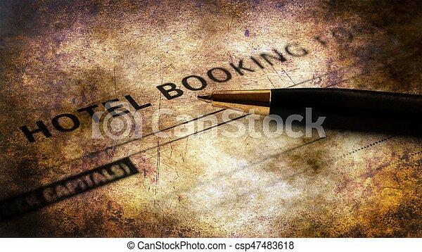 ホテル, 概念, グランジ, 予約, 形態 - csp47483618