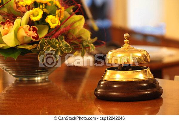 ホテル, 鐘, レセプション - csp12242246