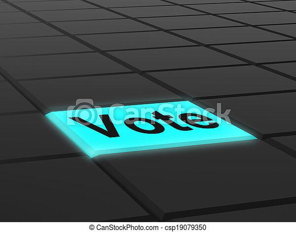 ボタン, オプション, 選択, 投票, 投票, ∥あるいは∥, ショー - csp19079350