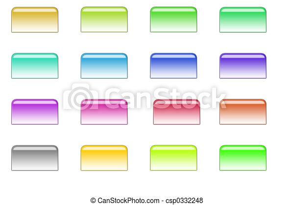 ボタン, スタイル, 01, ファイル - csp0332248